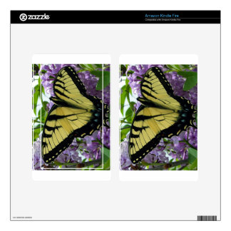 Tiger swallowtail butterfly lilac photo skin for kindle fire