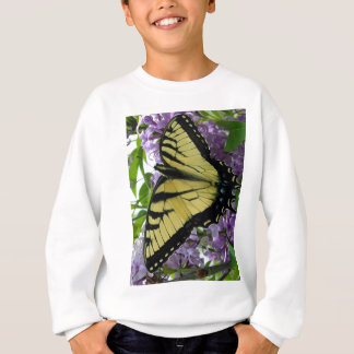 Tiger swallowtail butterfly lilac photo sweatshirt
