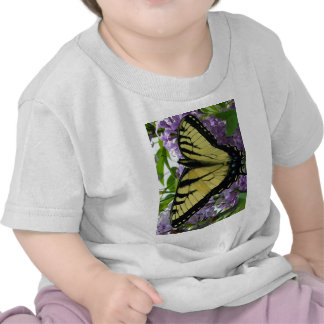 Tiger swallowtail butterfly lilac photo tee shirts