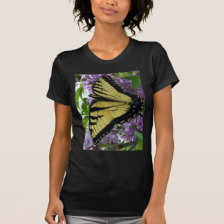 Tiger swallowtail butterfly lilac photo t-shirts