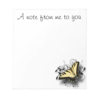 Tiger Swallowtail Butterfly Memo Note Pad