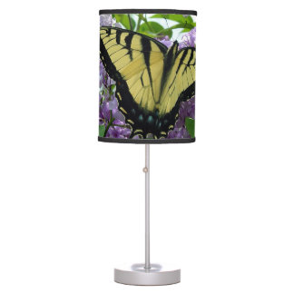 Tiger Swallowtail Butterfly on lilac photo Desk Lamp