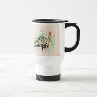 Tiger Swallowtail Butterfly on Turk s Cap Lily Coffee Mugs
