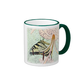 Tiger Swallowtail Butterfly on Turk s Cap Lily Coffee Mug