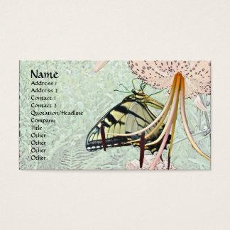 Tiger Swallowtail Butterfly on Turk's Cap Lily Business Card