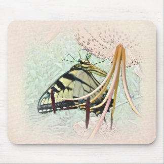 Tiger Swallowtail Butterfly on Turk's Cap Lily Mouse Pad