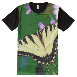 Tiger Swallowtail Butterfly on Wild Flowers All-Over-Print Shirt