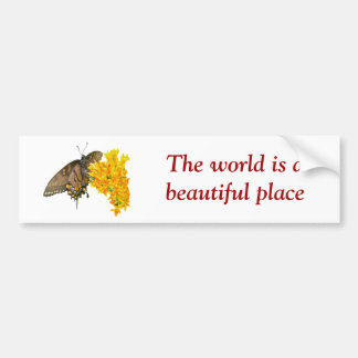 Tiger Swallowtail Butterfly (Papilio glaucas) Item Bumper Sticker