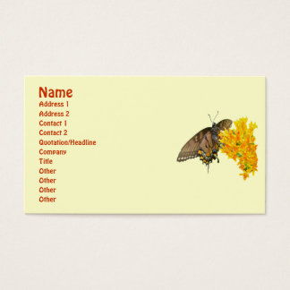 Tiger Swallowtail Butterfly (Papilio glaucas) Item Business Card