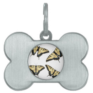 Tiger Swallowtail Butterfly Pet ID Tag