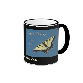 Tiger Swallowtail Butterfly Ringer Coffee Mug