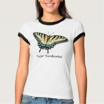 Tiger Swallowtail Butterfly Ringer T-Shirt