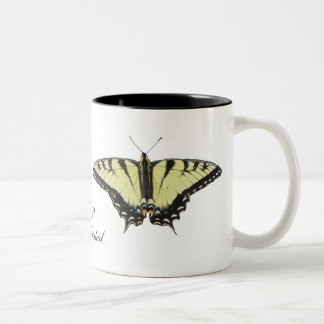Tiger Swallowtail Butterfly Two-Tone Coffee Mug
