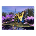 Tiger Swallowtail Fairy Stationery Note Card