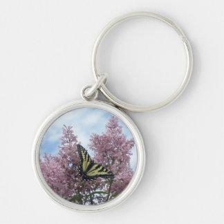 Tiger Swallowtail_lilacs Keychains