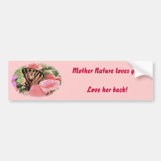 Tiger Swallowtail Love Nature Bumper Sticker