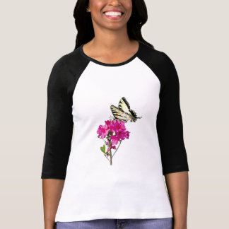 Tiger Swallowtail on Azaleas Ladies T-Shirt