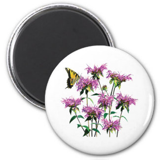 Tiger Swallowtail on Bee Balm Refrigerator Magnet