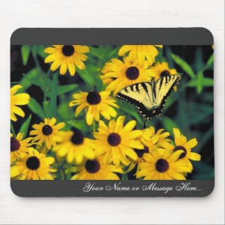 Tiger swallowtail on Black-eyed susan Mouse Pad