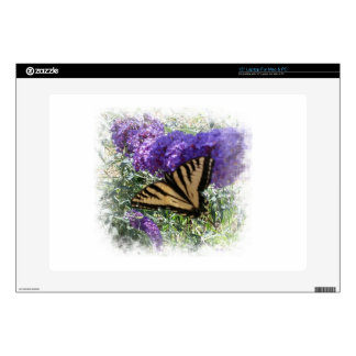 Tiger Swallowtail on Butterfly Bush Laptop Decal