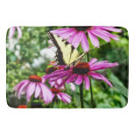 Tiger Swallowtail On Coneflower Bathroom Mat