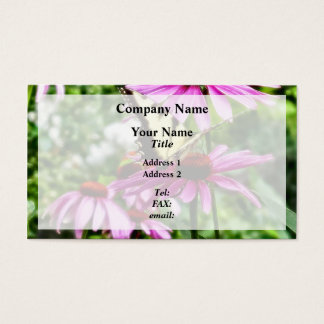 Tiger Swallowtail On Coneflower Business Card