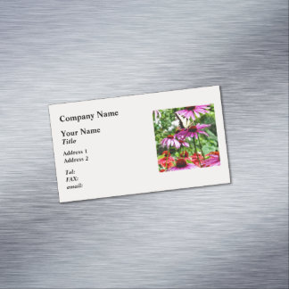 Tiger Swallowtail On Coneflower Business Card Magnet