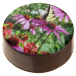 Tiger Swallowtail On Coneflower Chocolate Dipped Oreo
