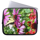 Tiger Swallowtail On Coneflower Computer Sleeve