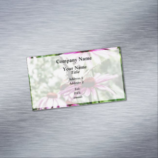 Tiger Swallowtail On Coneflower Magnetic Business Card