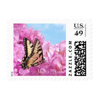 Tiger Swallowtail on Mountain Laurel Postage Stamp