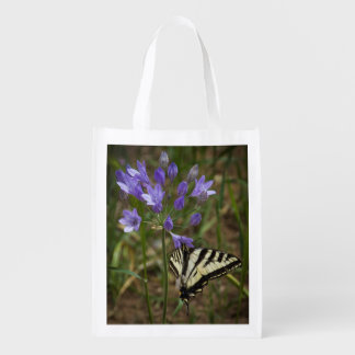 Tiger Swallowtail on Purple Flowers Reusable Bag