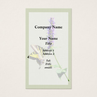 Tiger Swallowtail on Purple Salvia Business Card