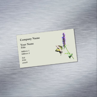 Tiger Swallowtail on Purple Salvia Business Card Magnet