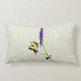 Tiger Swallowtail on Purple Salvia Lumbar Pillow