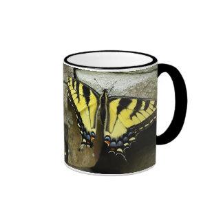 Tiger Swallowtail Ringer Coffee Mug