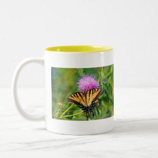 Tiger Swallowtail Two-Tone Coffee Mug