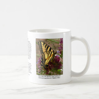 Tiger Swallowtail with Rose Sage Coffee Mug