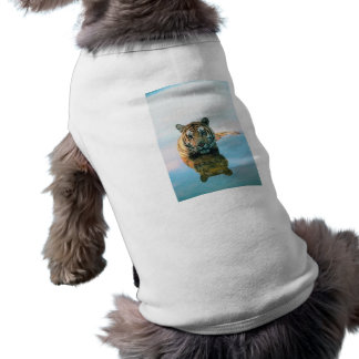 Tiger Swimming Doggie T Shirt