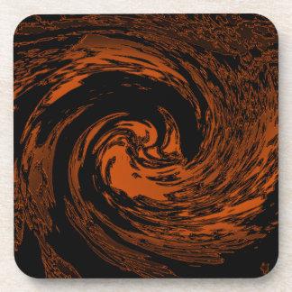 Tiger Swirl Beverage Coaster