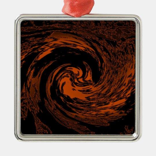 Tiger Swirl Metal Ornament