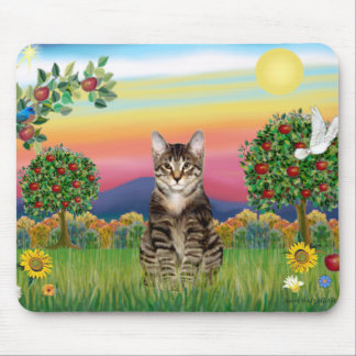 Tiger Tabby Cat 1 - Bright Country Mouse Pad