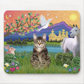 Tiger Tabby Cat  - Fantasy Land Mouse Pad