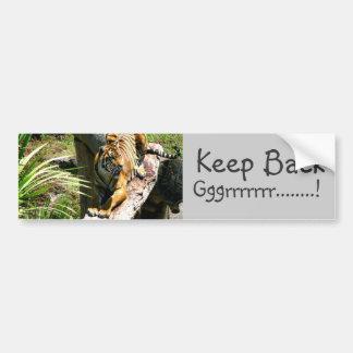 Tiger Tamed Bumper Sticker