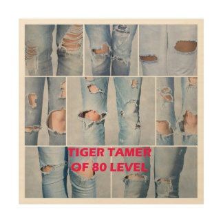 Tiger tamer of 80 level wood wall decor