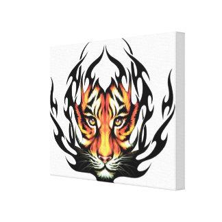 Tiger Tattoo Canvas Print