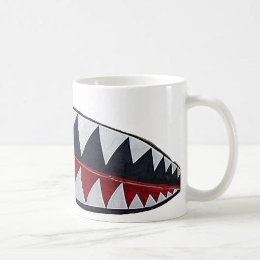 Tiger Teeth Classic White Coffee Mug