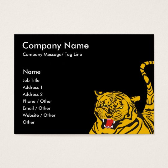 Tiger Template Business Card