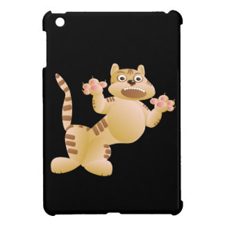 Tiger, the cat growls and threatens paws claws iPad mini cover