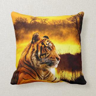 """Tiger Throw Pillow 16"""" x 16"""""""